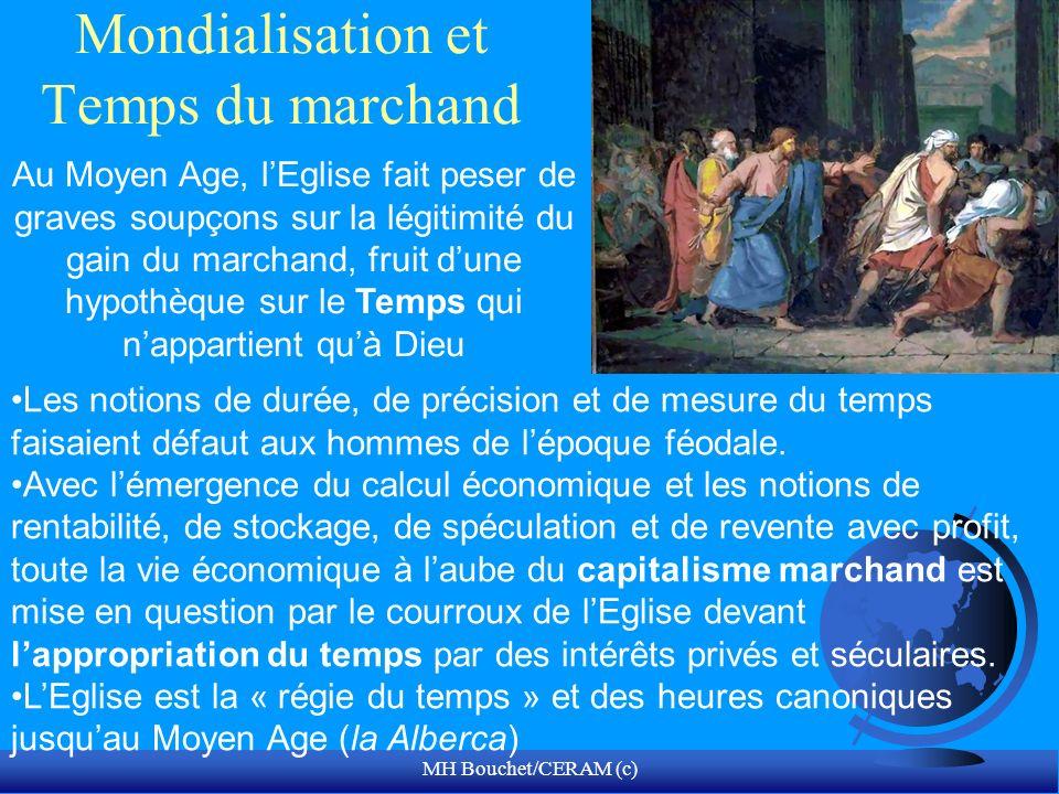 MH Bouchet/CERAM (c) Mondialisation et Temps du marchand Au Moyen Age, lEglise fait peser de graves soupçons sur la légitimité du gain du marchand, fr