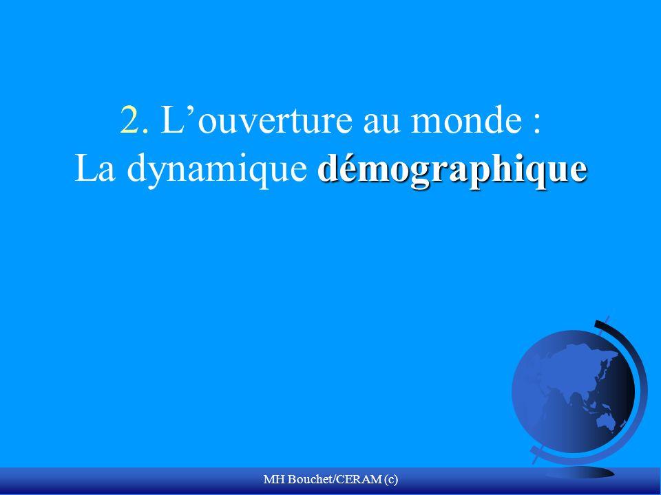 MH Bouchet/CERAM (c) démographique 2. Louverture au monde : La dynamique démographique