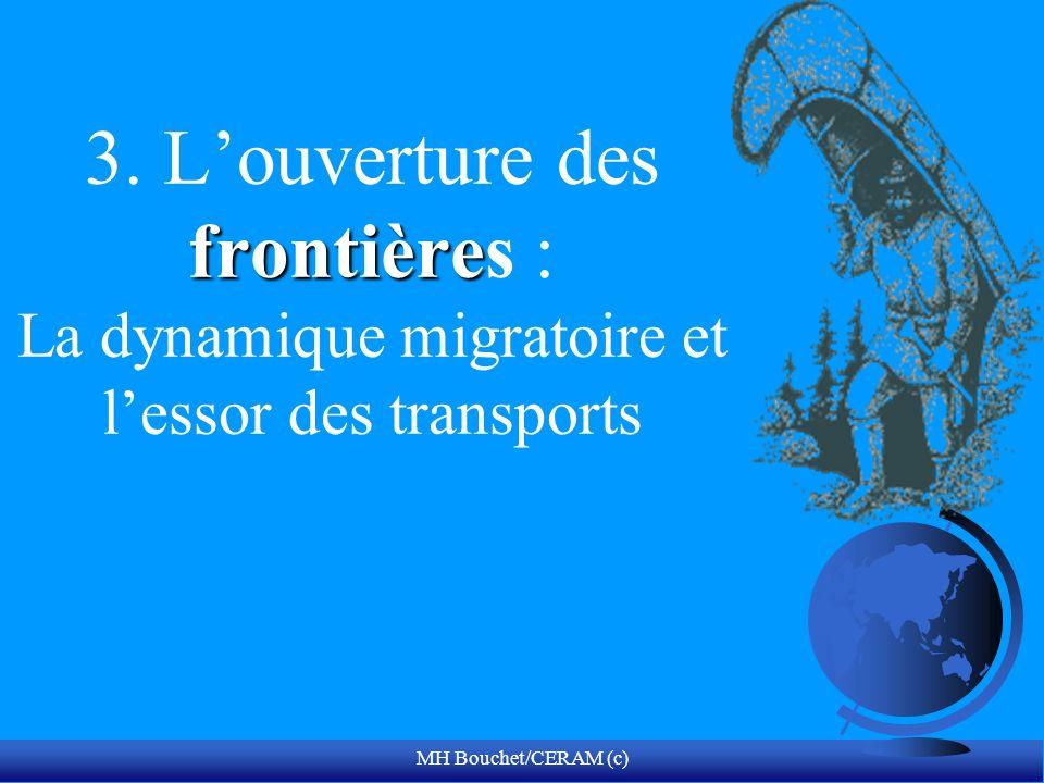 MH Bouchet/CERAM (c) frontière 3. Louverture des frontières : La dynamique migratoire et lessor des transports