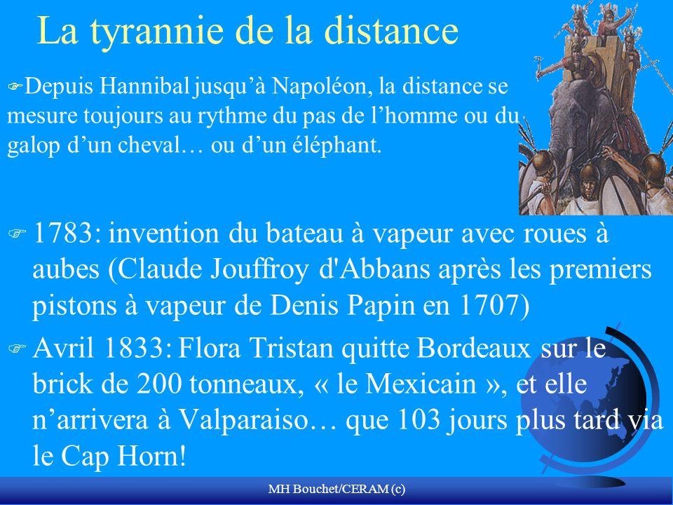 MH Bouchet/CERAM (c) La tyrannie de la distance F 1783: invention du bateau à vapeur avec roues à aubes (Claude Jouffroy d'Abbans après les premiers p