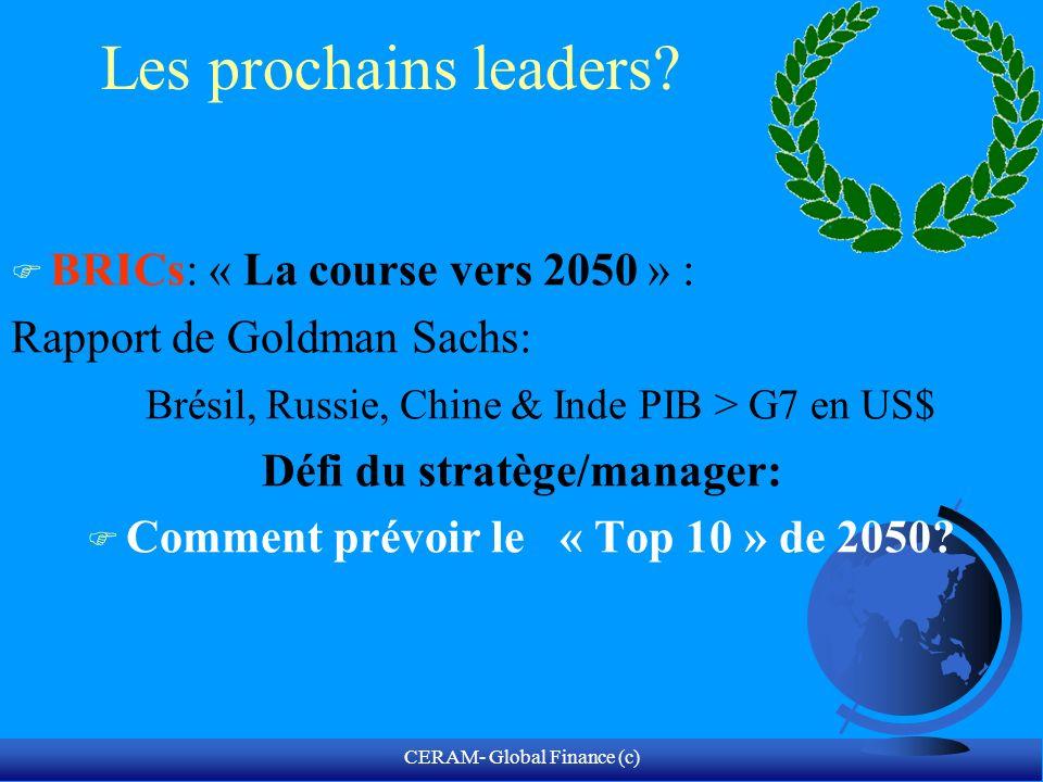CERAM- Global Finance (c) Chine = Le retour.