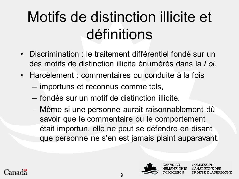 10 Étapes du processus de traitement des plaintes Demande de renseignements Dépôt de la plainte Médiation Enquête Décision de la Commission Conciliation TribunalCour fédérale