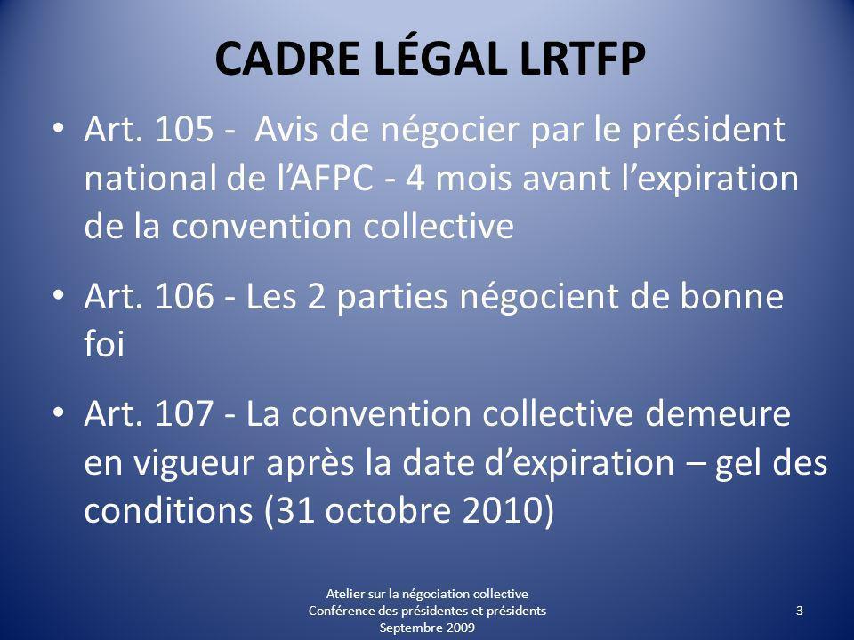 CADRE LÉGAL LRTFP Art.