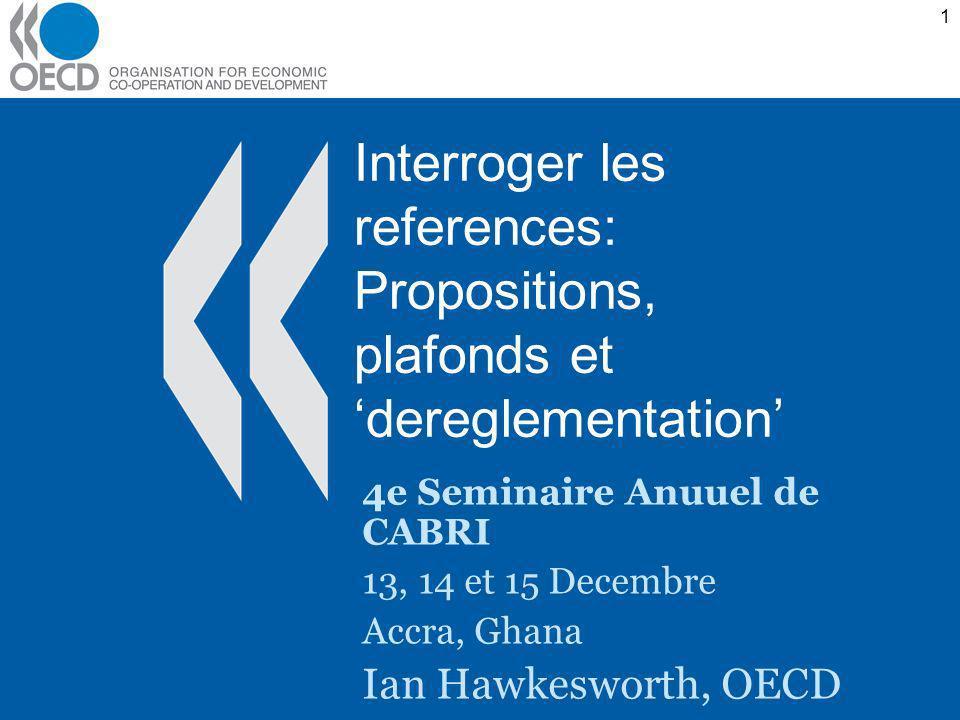 1 Interroger les references: Propositions, plafonds et dereglementation 4e Seminaire Anuuel de CABRI 13, 14 et 15 Decembre Accra, Ghana Ian Hawkeswort