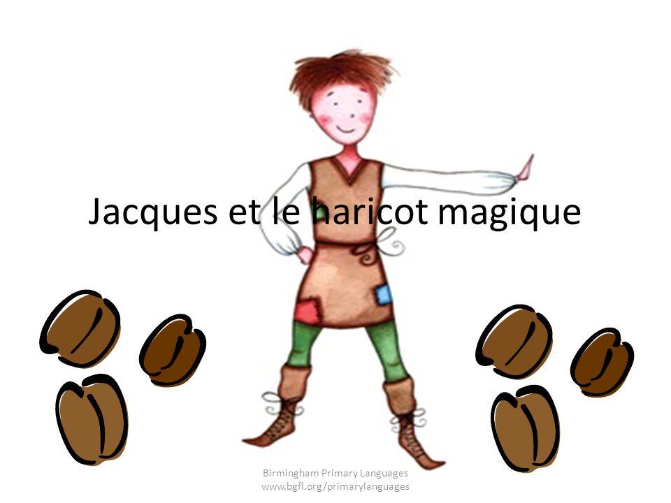 Jacques grimpe la tige de haricot magique.Il grimpe…Il grimpe…Il grimpe…jusquau ciel.