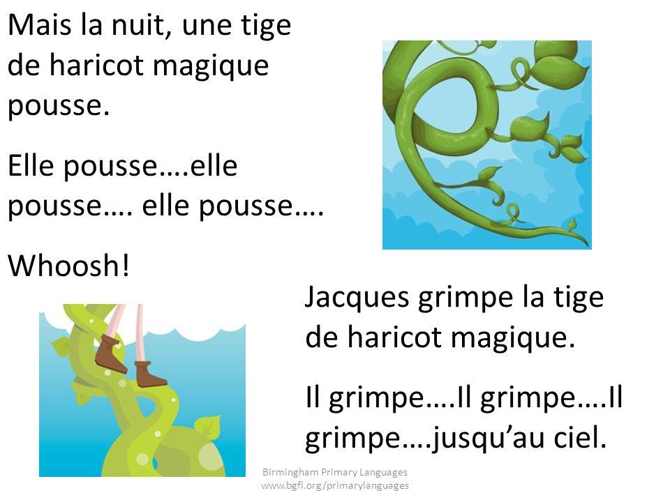 Jacques voit un château géant.Toc…toc…toc…toc…. Personne.