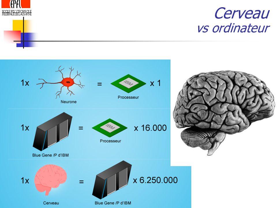 ECOLE POLYTECHNIQUE FEDERALE DE LAUSANNE Cerveau vs ordinateur