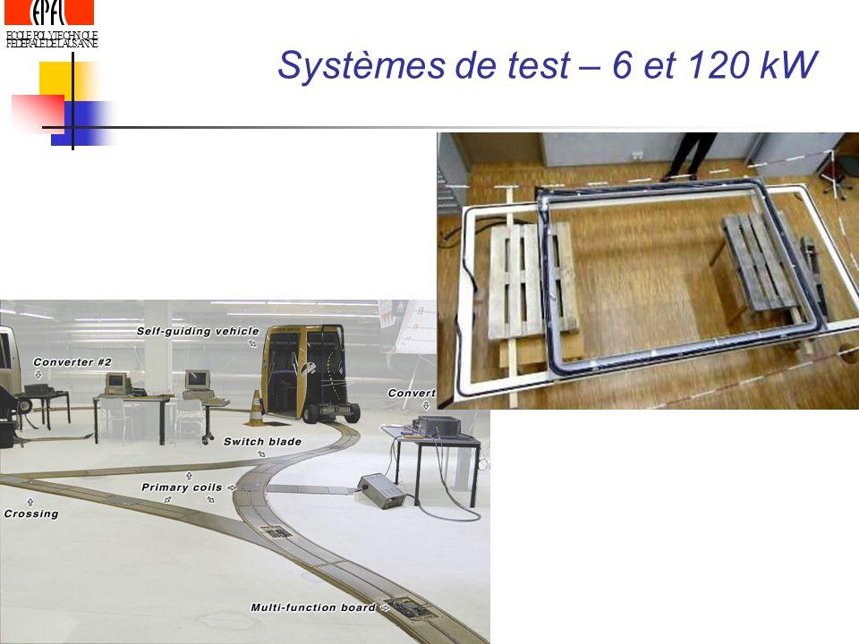ECOLE POLYTECHNIQUE FEDERALE DE LAUSANNE Systèmes de test – 6 et 120 kW