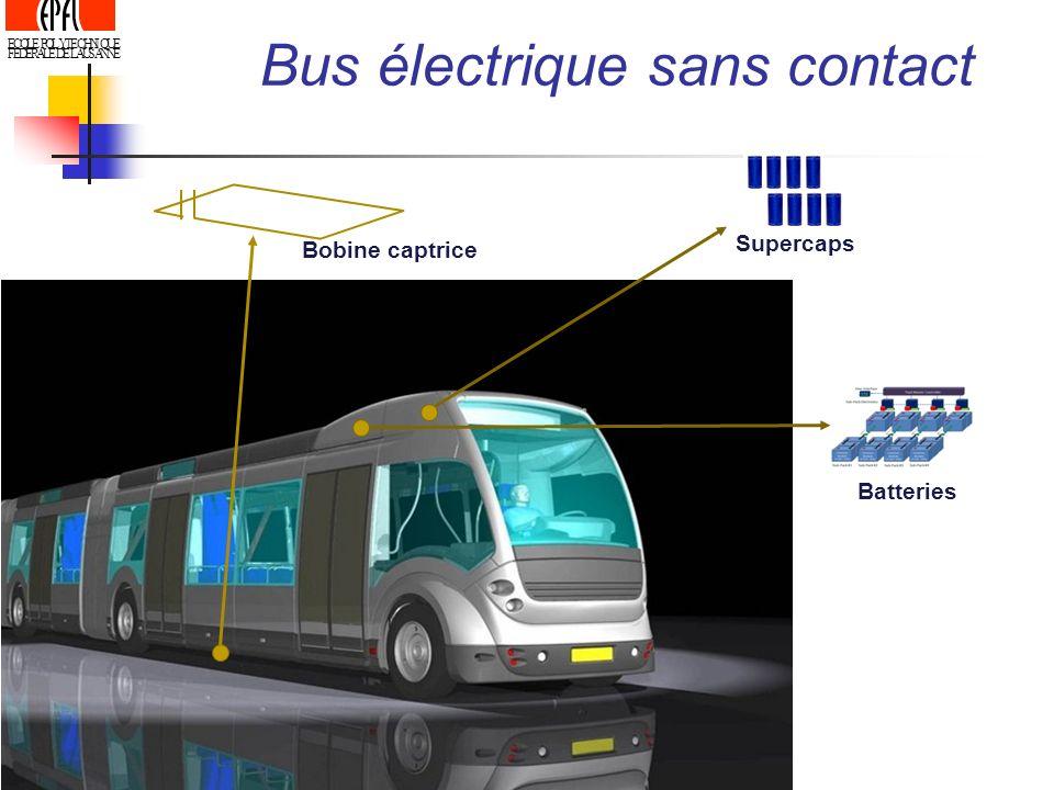 ECOLE POLYTECHNIQUE FEDERALE DE LAUSANNE Supercaps Batteries Bobine captrice Bus électrique sans contact