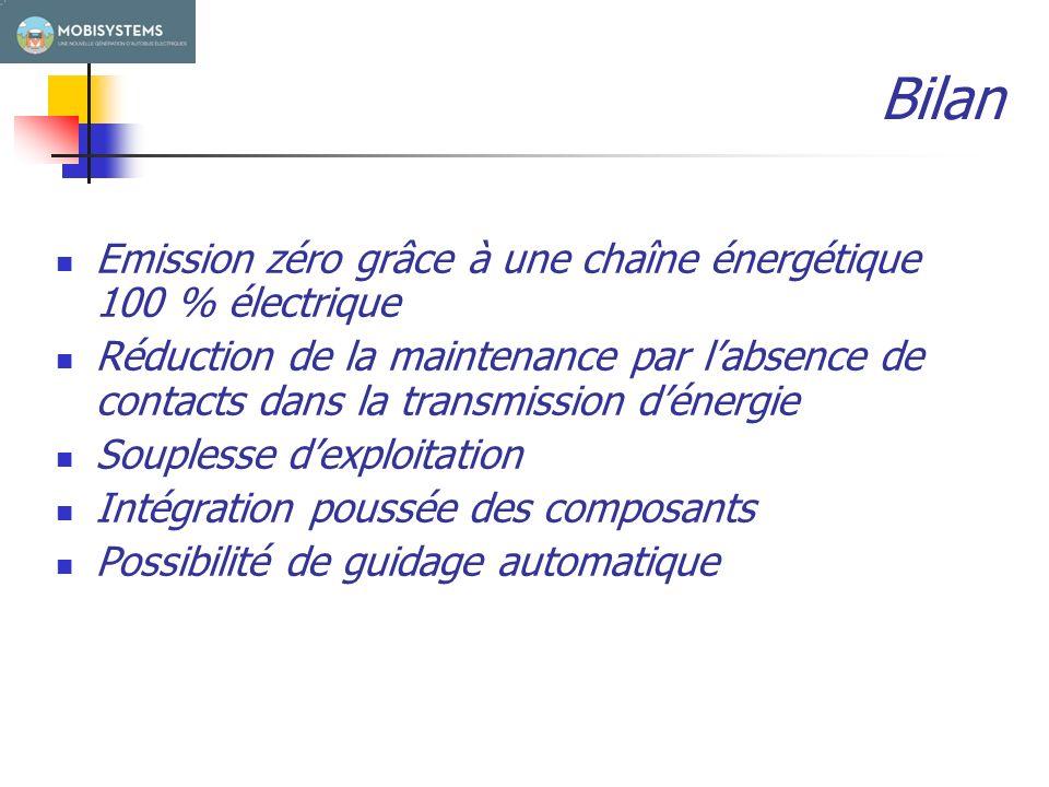 ECOLE POLYTECHNIQUE FEDERALE DE LAUSANNE Bilan Emission zéro grâce à une chaîne énergétique 100 % électrique Réduction de la maintenance par labsence