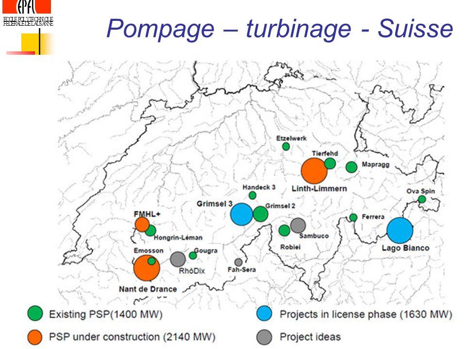 ECOLE POLYTECHNIQUE FEDERALE DE LAUSANNE Pompage – turbinage - Suisse