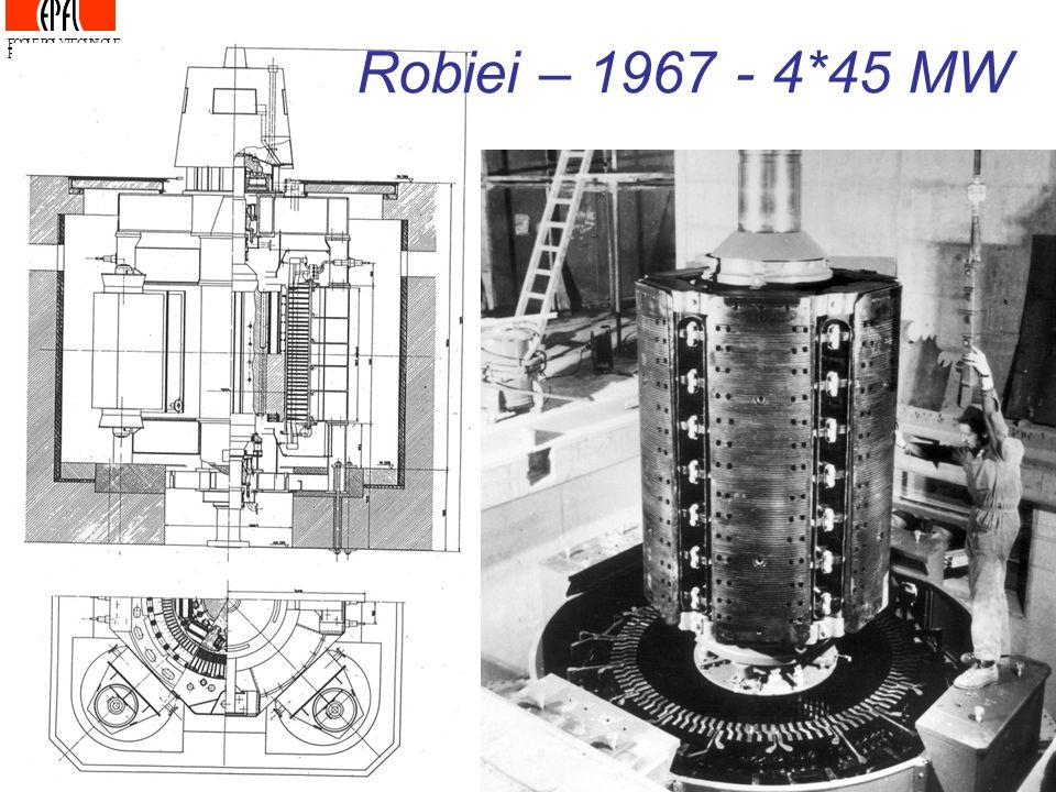 ECOLE POLYTECHNIQUE FEDERALE DE LAUSANNE Robiei – 1967 - 4*45 MW