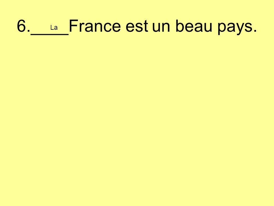 6.____France est un beau pays. La