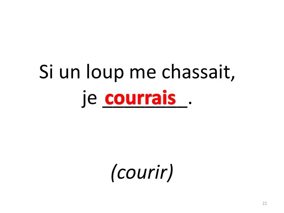 Si un loup me chassait, je ________. (courir) 21