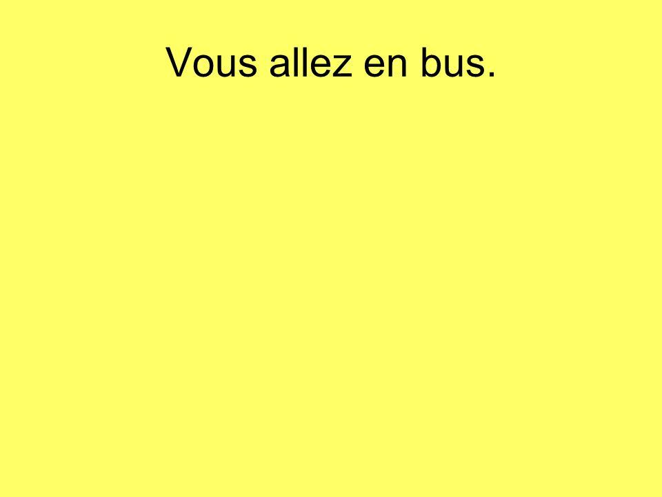Vous allez en bus.