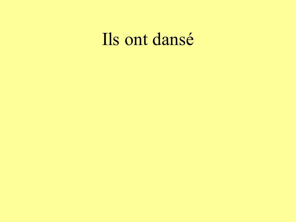 Ils ont dansé