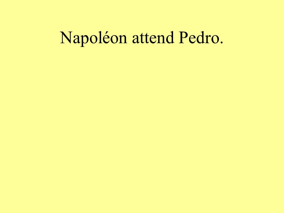 Napoléon attend Pedro.