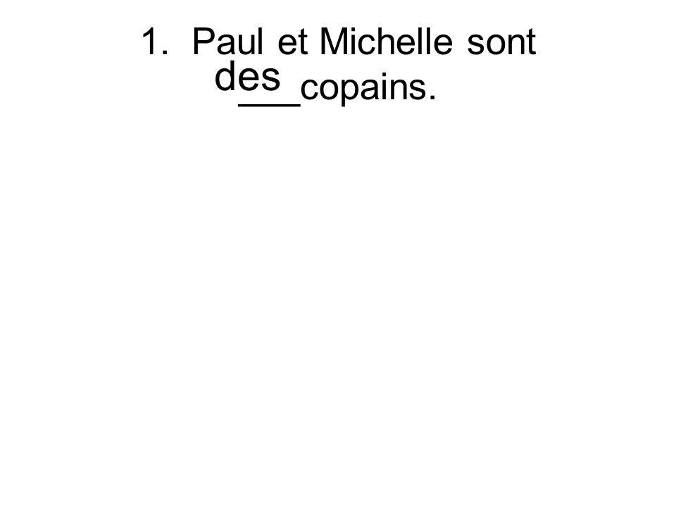 1. Paul et Michelle sont ___copains. des