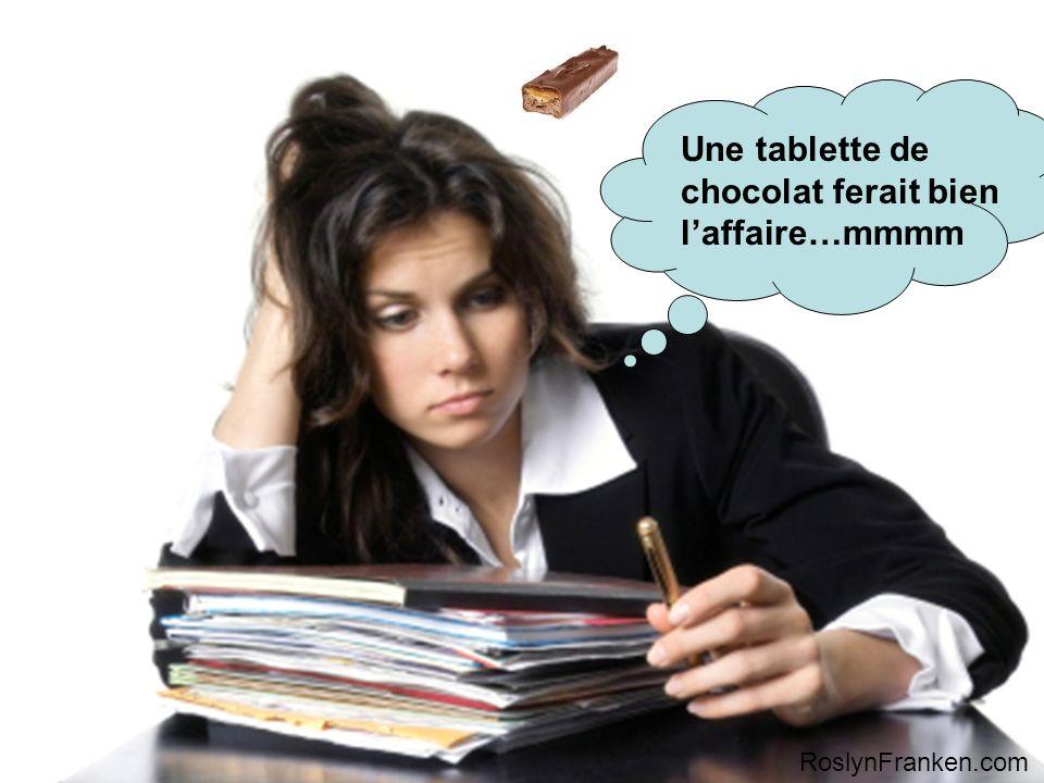 Une tablette de chocolat ferait bien laffaire…mmmm RoslynFranken.com