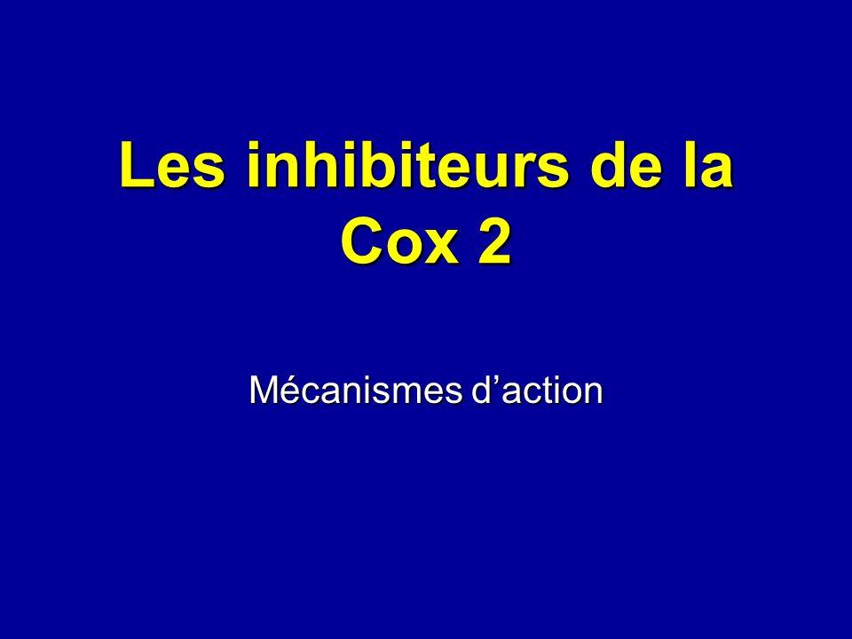 Les inhibiteurs de la Cox 2 Mécanismes daction