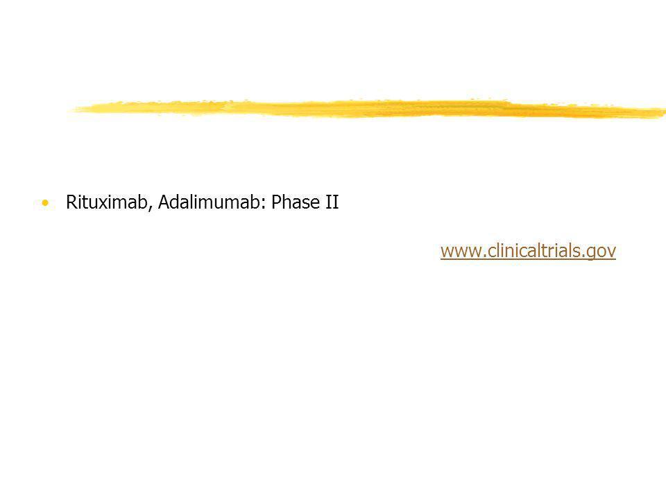 Rituximab, Adalimumab: Phase II www.clinicaltrials.gov