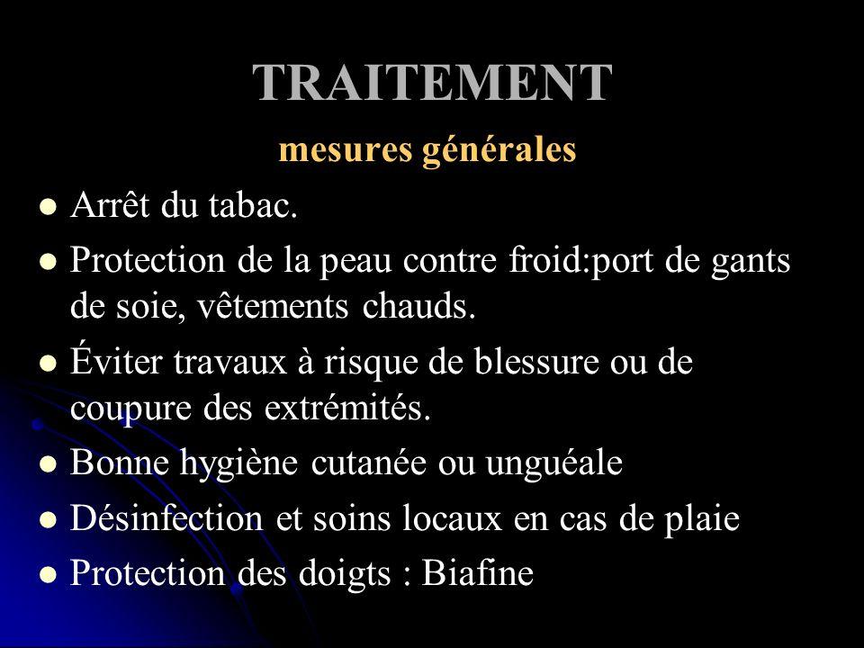 TRAITEMENT mesures générales Arrêt du tabac.