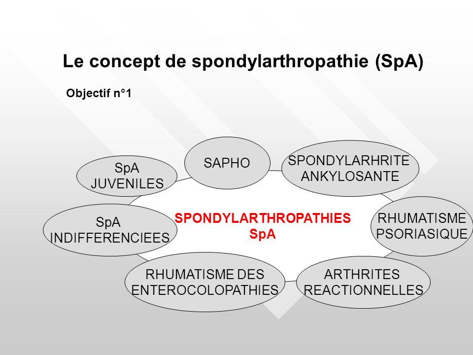 SPONDYLARTHROPATHIES SpA SPONDYLARHRITE ANKYLOSANTE RHUMATISME PSORIASIQUE ARTHRITES REACTIONNELLES SpA INDIFFERENCIEES SAPHO RHUMATISME DES ENTEROCOL