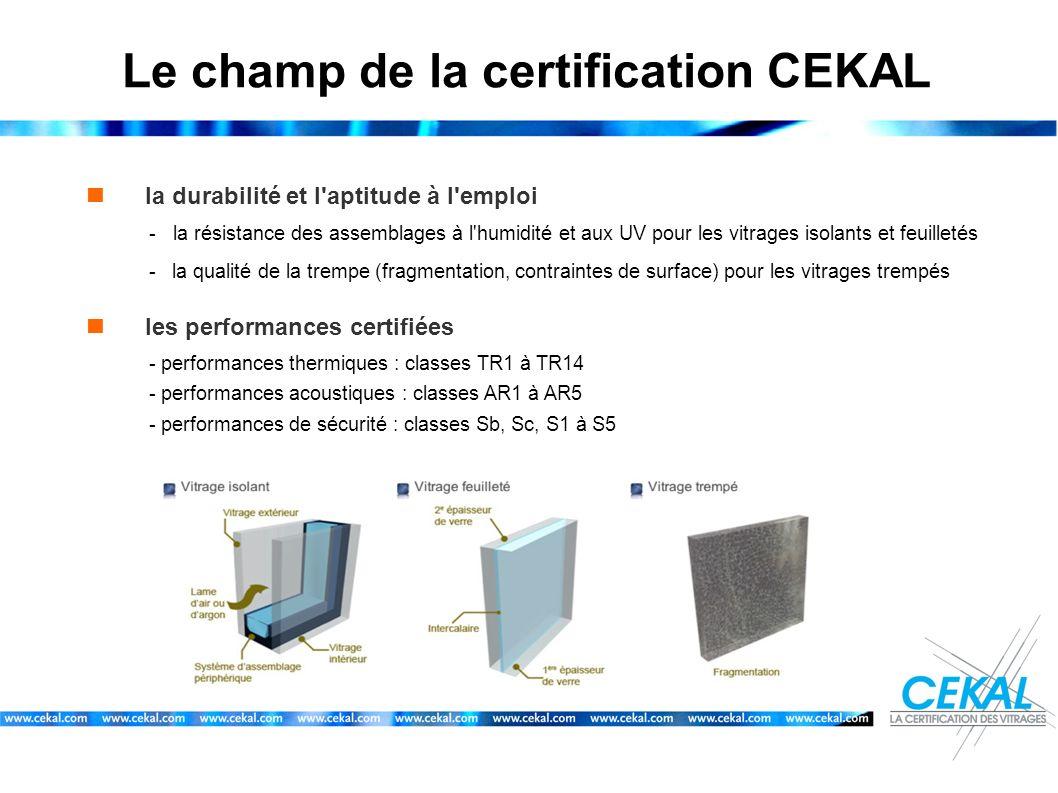 Le champ de la certification CEKAL la durabilité et l'aptitude à l'emploi -la résistance des assemblages à l'humidité et aux UV pour les vitrages isol