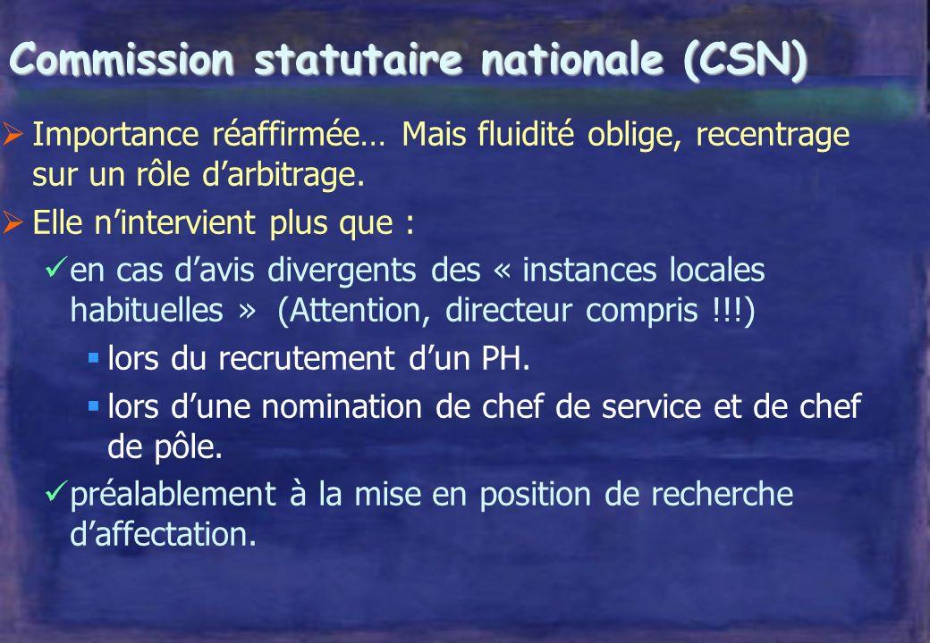 Fonctions du Centre national de gestion lorganisation du concours national ; la publication des postes ; le suivi et la gestion des carrières ; la déf