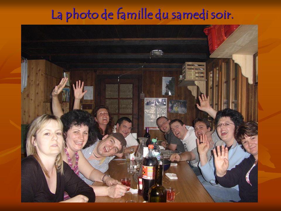 La photo de famille du samedi soir.