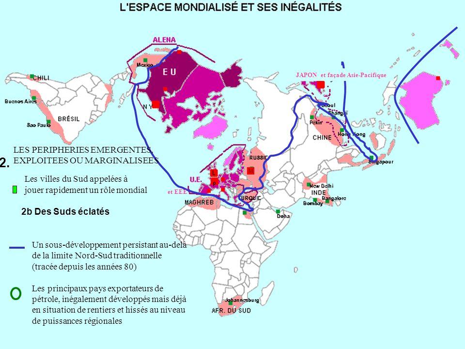 Un sous-développement persistant au-delà de la limite Nord-Sud traditionnelle (tracée depuis les années 80) Les principaux pays exportateurs de pétrol