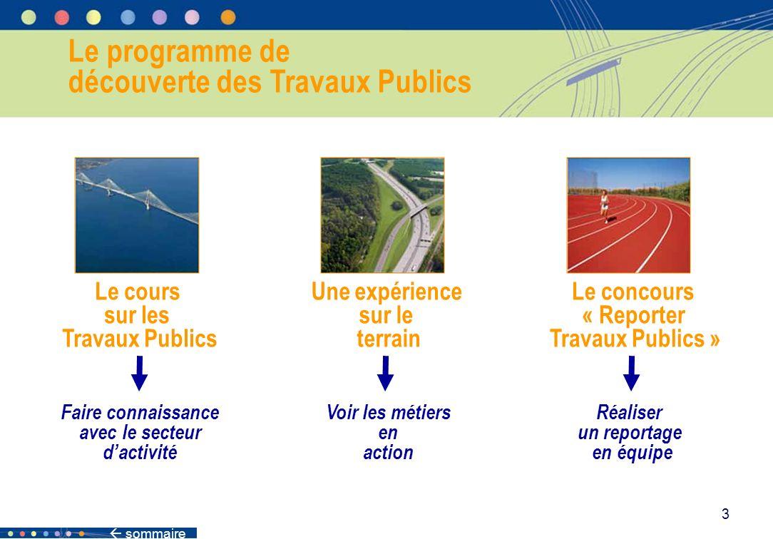 sommaire 34 Les projets en partenariat public-privé Des entreprises de Travaux Publics travaillent en partenariat avec lÉtat, les régions, les communes pour définir des ouvrages nécessaires.