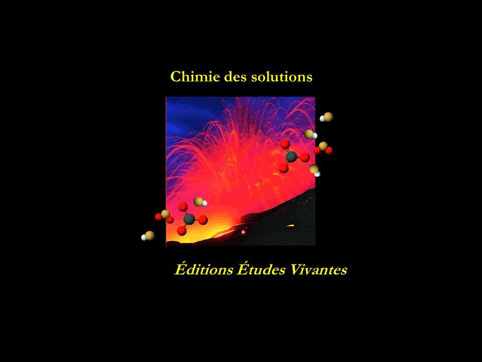 Chimie des solutions Éditions Études Vivantes