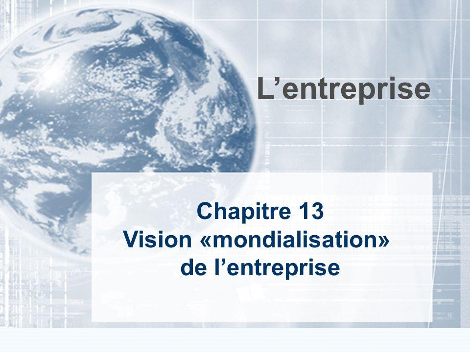 Cliquez et modifiez le titre Chapitre 3 Vision «marketing» de lentreprise Lentreprise Chapitre 13 Vision «mondialisation» de lentreprise
