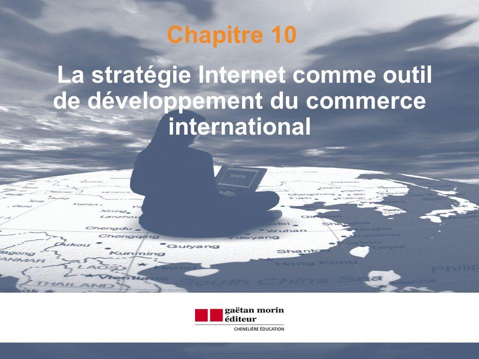 Chapitre 10 La stratégie Internet comme outil de développement du commerce international