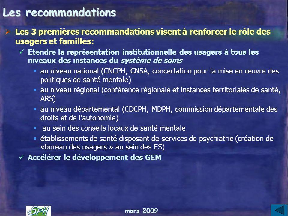 mars 2009 Le rapport de la commission Couty Etablit 26 recommandations selon des « axes forts » Rédigées selon 3 parties 1.Le « sens de laction »: une