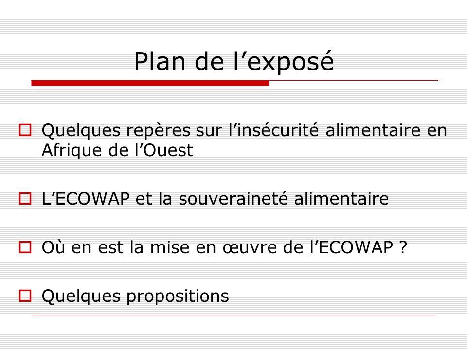 Où en est la mise en œuvre de lECOWAP .