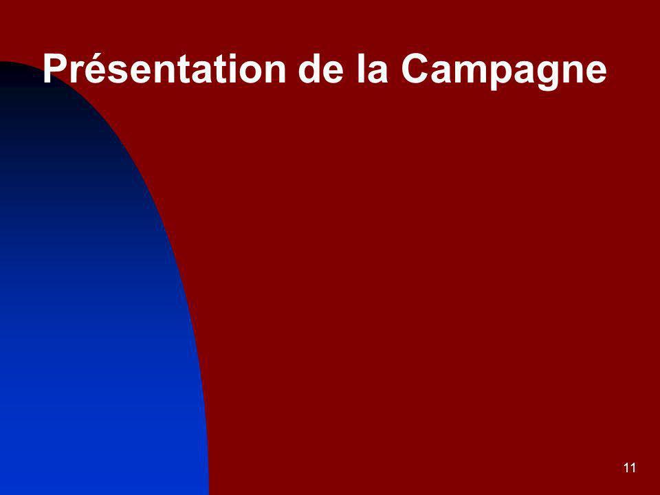 11 Présentation de la Campagne