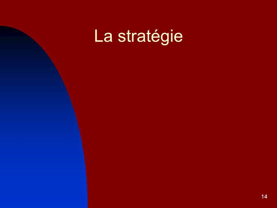 14 La stratégie