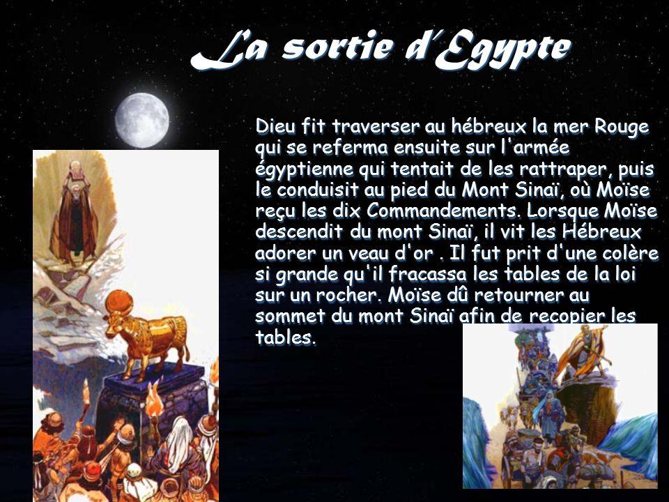 La mort Moïse, pour abreuver le peuple hébreu, frappa de son bâton par deux fois le rocher de Meriba - au lieu d avoir parlé au rocher - n est pas autorisé à entrer en Terre promise.