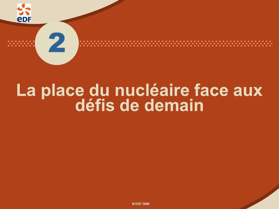 © EDF 2008 Le renouveau du nucléaire dans le monde : tous les continents sont concernés © EDF 2008
