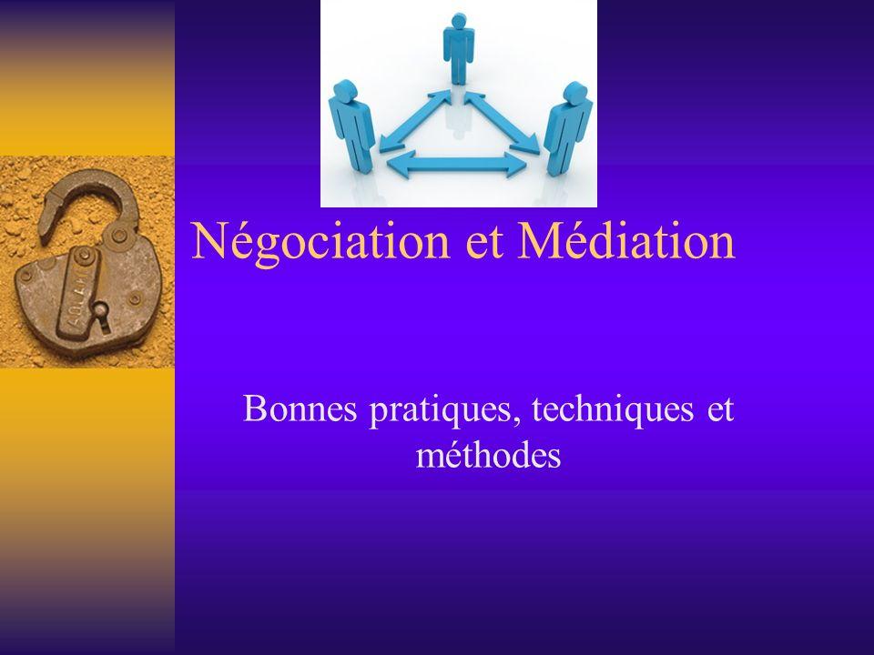 Négociation et Médiation Bonnes pratiques, techniques et méthodes