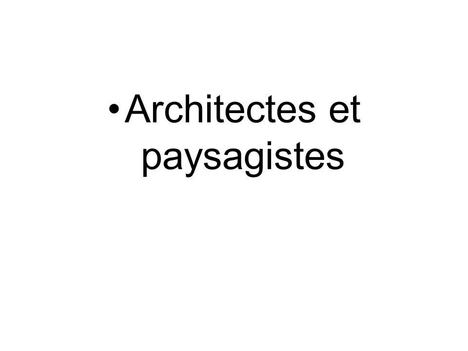 Architectes et paysagistes