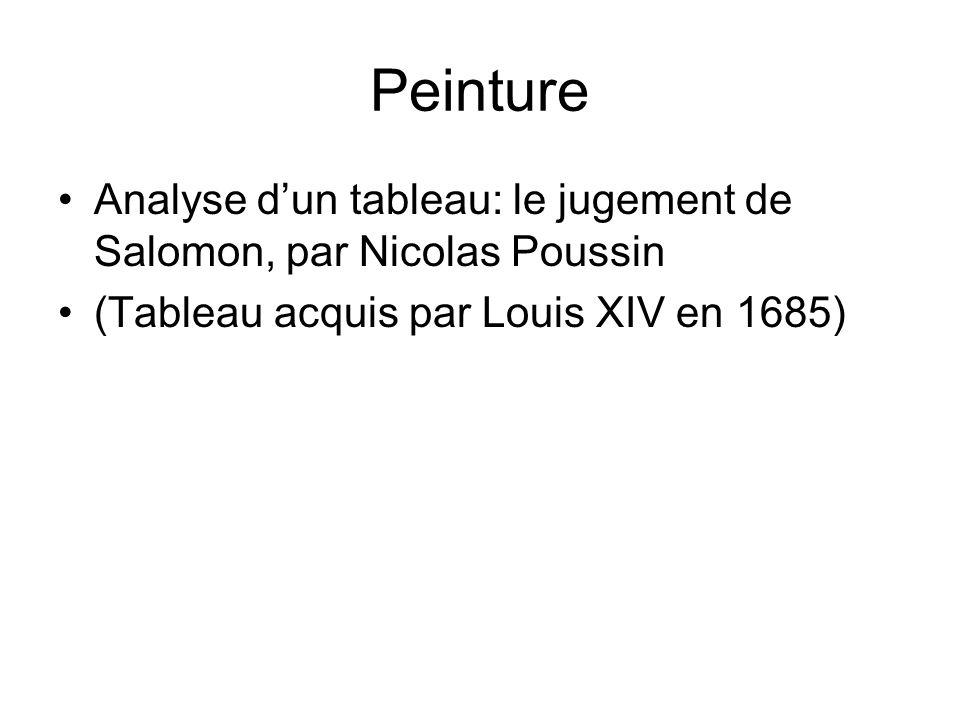 Peinture Analyse dun tableau: le jugement de Salomon, par Nicolas Poussin (Tableau acquis par Louis XIV en 1685)