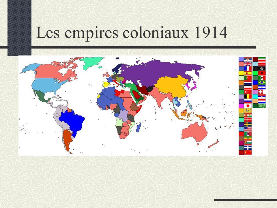Les empires coloniaux 1914