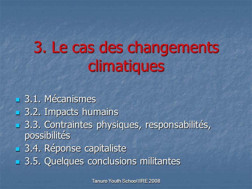 Tanuro Youth School IIRE 2008 3. Le cas des changements climatiques 3.1.