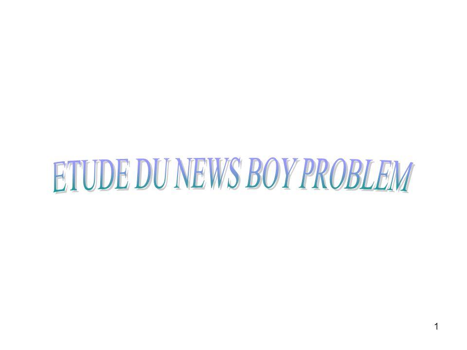 2 Présentation du problème Quest ce que le News boy problem.