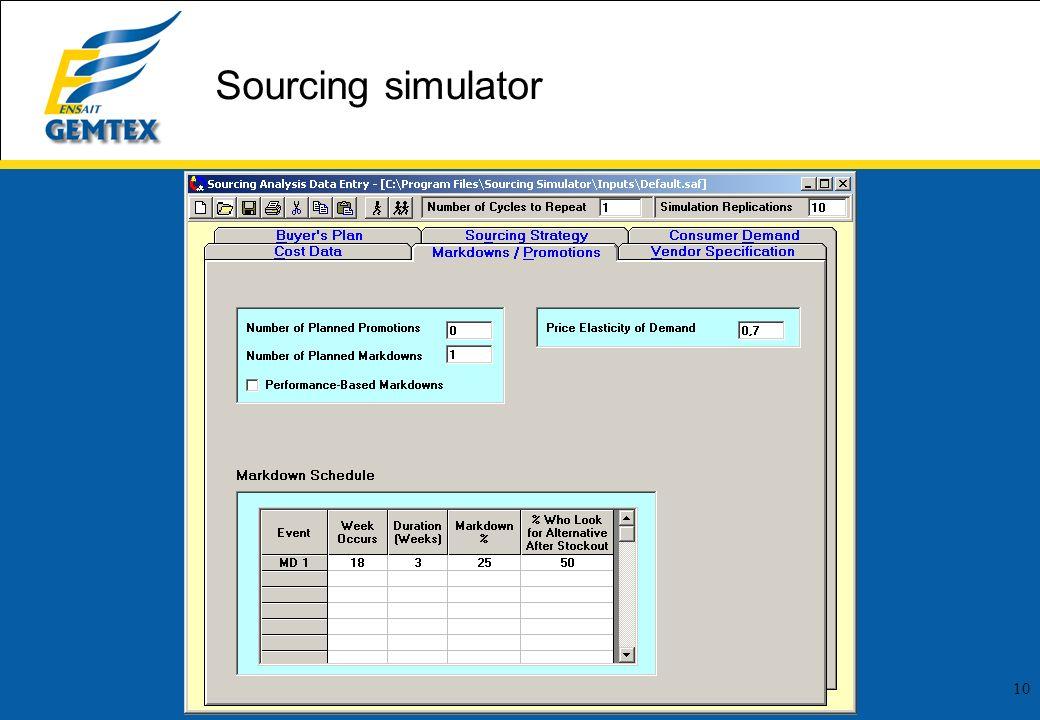 10 Sourcing simulator