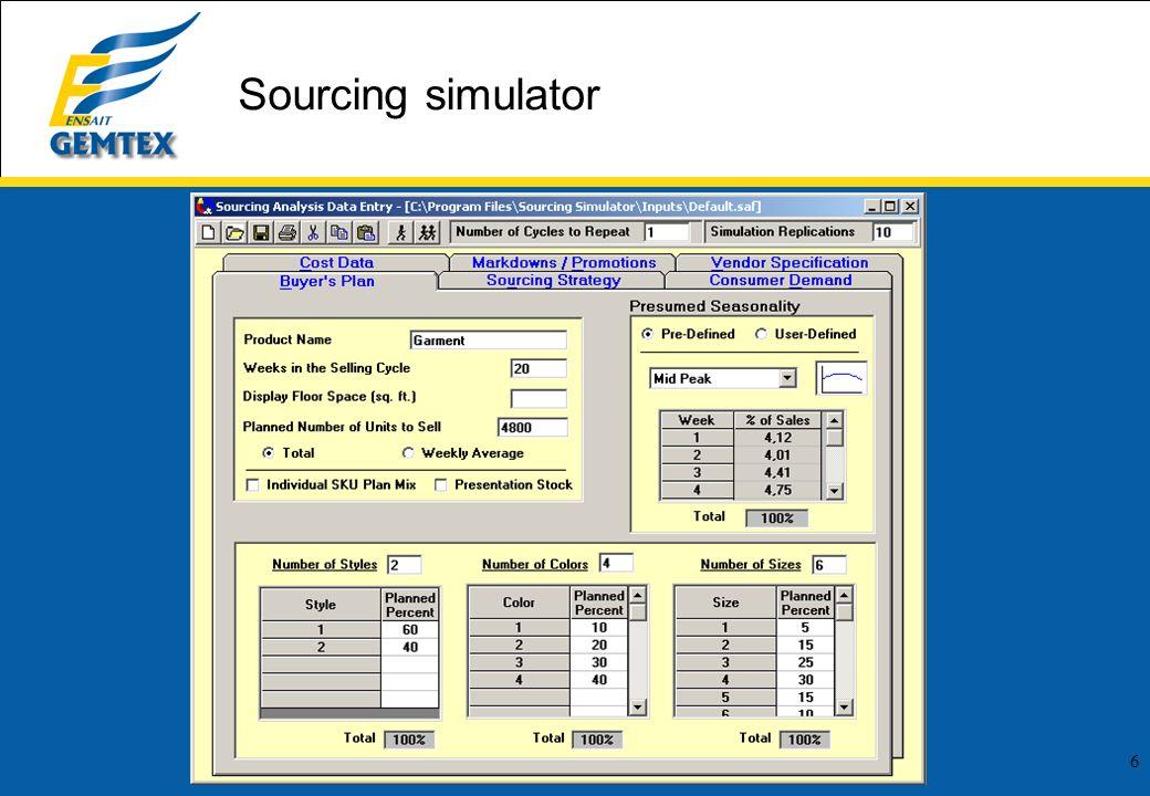 6 Sourcing simulator