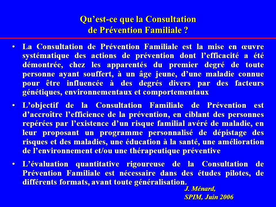 Quest-ce que la Consultation de Prévention Familiale .